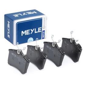 комплект спирачно феродо, дискови спирачки 025 209 6117 с добро MEYLE съотношение цена-качество