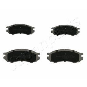 комплект спирачно феродо, дискови спирачки PA-010AF с добро JAPANPARTS съотношение цена-качество
