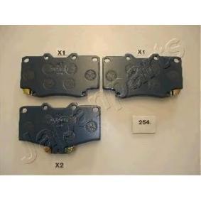 JAPANPARTS nagyteljesítményű fékbetét készlet PA-254P - vásároljon bármikor