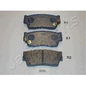 acheter JAPANPARTS Kit de plaquettes de freins de haute performance PA-806P à tout moment