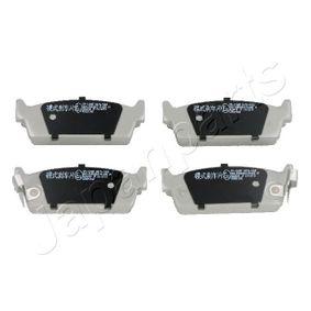 комплект спирачно феродо, дискови спирачки PP-124AF с добро JAPANPARTS съотношение цена-качество