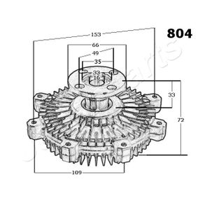 Japanparts VC-901 Clutch radiator fan