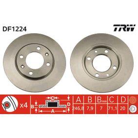Disco freno DF1224 TRW Pagamento sicuro — Solo ricambi nuovi