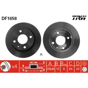Brake Disc DF1658 TRW Secure payment — only new parts