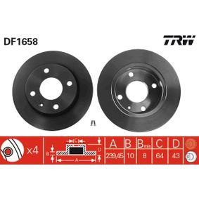 Disque de frein DF1658 TRW Paiement sécurisé — seulement des pièces neuves