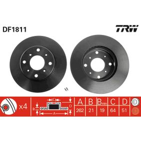 buy and replace Brake Disc TRW DF1811