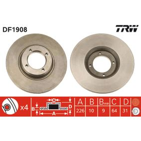 Disco freno TRW DF1908 comprare e sostituisci