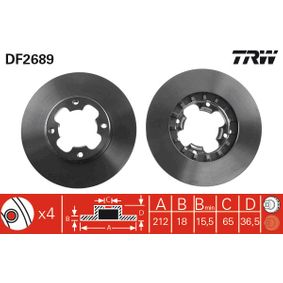 Brake Disc DF2689 TRW Secure payment — only new parts