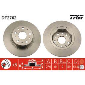 Disco freno DF2762 con un ottimo rapporto TRW qualità/prezzo