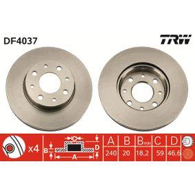 Disque de frein DF4037 TRW Paiement sécurisé — seulement des pièces neuves