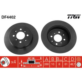 buy and replace Brake Disc TRW DF4402