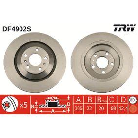 DF4907S TRW Bremsscheibe Hinterachse
