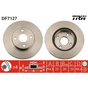 Disco freno DF7127 TRW Pagamento sicuro — Solo ricambi nuovi