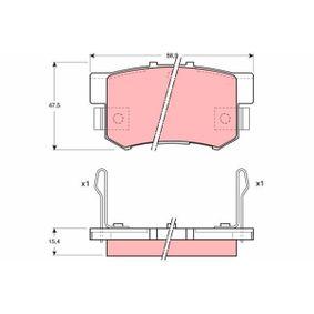Bremsebelegg sett, skivebremse GDB1063 til HONDA lave priser - Handle nå!