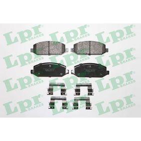 LPR комплект спирачно феродо, дискови спирачки 05P166