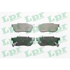 комплект спирачно феродо, дискови спирачки 05P249 за NISSAN URVAN на ниска цена — купете сега!