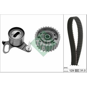 Timing Belt Set INA with add-on material, with roof rails