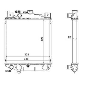 Radiateur, refroidissement du moteur 53881 NRF Paiement sécurisé — seulement des pièces neuves
