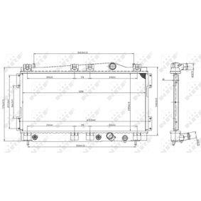 Radiatore, Raffreddamento motore NRF 53955 comprare e sostituisci