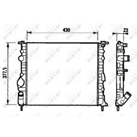 Radiatore, Raffreddamento motore 58192 con un ottimo rapporto NRF qualità/prezzo