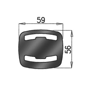 Dinex 50904 Gummistreifen Abgasanlage