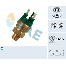 Temperature Switch, radiator fan 38130 at a discount — buy now!