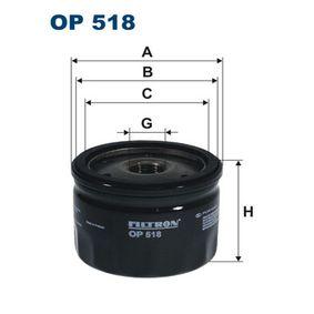 Filtre à huile OP518 FILTRON Paiement sécurisé — seulement des pièces neuves
