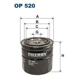 Filtro de óleo OP520 FILTRON Pagamento seguro — apenas peças novas