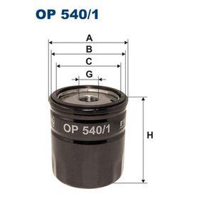 Filtro de óleo OP540/1 com uma excecional FILTRON relação preço-desempenho