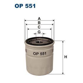 Filtre à huile OP551 FILTRON Paiement sécurisé — seulement des pièces neuves