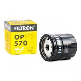 Filtre à huile OP570 FILTRON Paiement sécurisé — seulement des pièces neuves