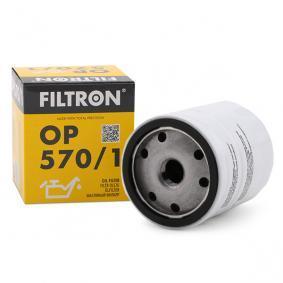 Filtro de óleo OP570/1 FILTRON Pagamento seguro — apenas peças novas