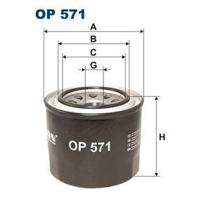Filtro de óleo OP571 com uma excecional FILTRON relação preço-desempenho