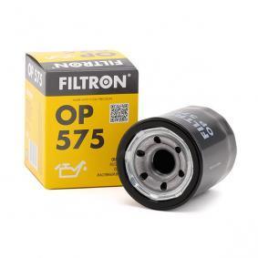 Filtro de óleo OP575 com uma excecional FILTRON relação preço-desempenho