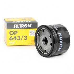 Filtro de óleo OP643/3 com uma excecional FILTRON relação preço-desempenho
