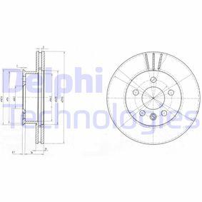 DELPHI спирачен диск BG2717