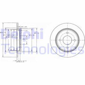 Disco freno BG3054 con un ottimo rapporto DELPHI qualità/prezzo