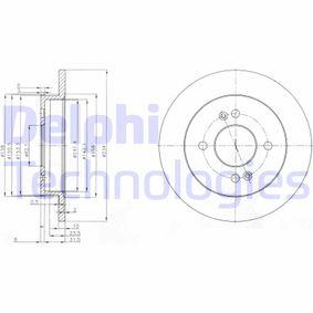 Disco de travão BG3981 DELPHI Pagamento seguro — apenas peças novas
