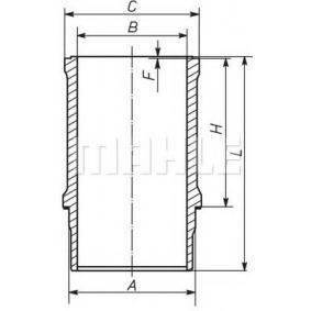 köp MAHLE ORIGINAL Cylinderhylsa 021 WN 09 när du vill