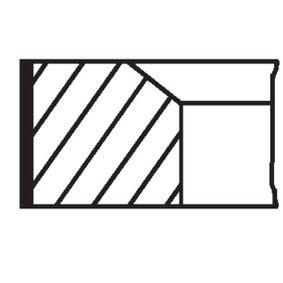 MAHLE ORIGINAL Kit fasce elastiche 081 76 N2 acquista online 24/7