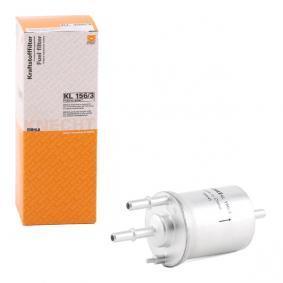 palivovy filtr KL 156/3 s vynikajícím poměrem mezi cenou a MAHLE ORIGINAL kvalitou