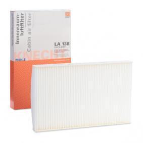 Rendeljen LA 138 MAHLE ORIGINAL szűrő, utastér levegő terméket most