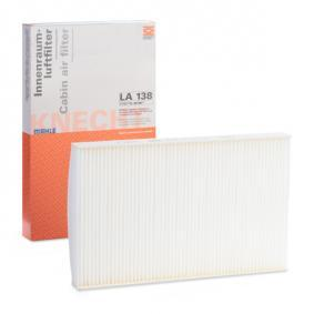 Beställ LA 138 MAHLE ORIGINAL Filter, kupéventilation nu
