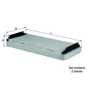 Kup MAHLE ORIGINAL Filtr, wentylacja przestrzeni pasażerskiej LA 47/S