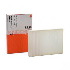 Order LA 75 MAHLE ORIGINAL Filter, interior air now