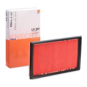 Luftfilter LX 307 mit vorteilhaften MAHLE ORIGINAL Preis-Leistungs-Verhältnis