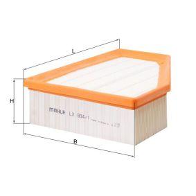 въздушен филтър LX 934/1 с добро MAHLE ORIGINAL съотношение цена-качество
