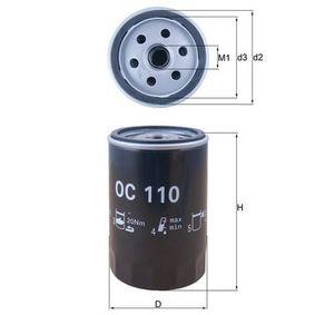 Filtre à huile OC 110 MAHLE ORIGINAL Paiement sécurisé — seulement des pièces neuves