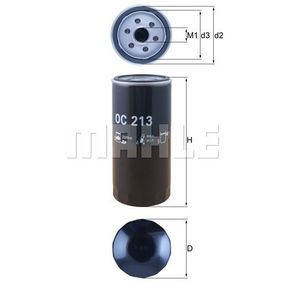 Kupte a vyměňte Olejový filtr MAHLE ORIGINAL OC 142