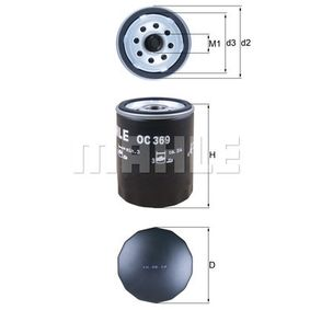 buy and replace Oil Filter MAHLE ORIGINAL OC 369